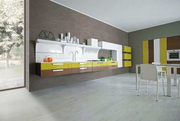 cucina moderna aran miro colours roma