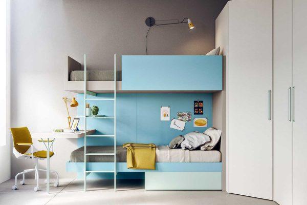 letto-castello-colorato-scaletta-frontale-cameretta-start-s33